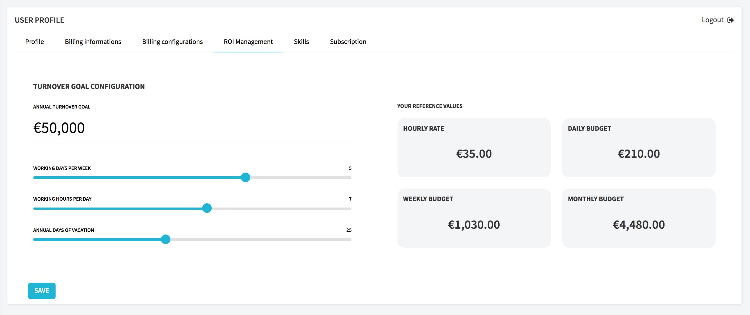 Taskomat revenue goal software