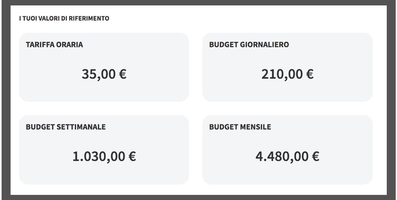 Tariffa oraria e budget