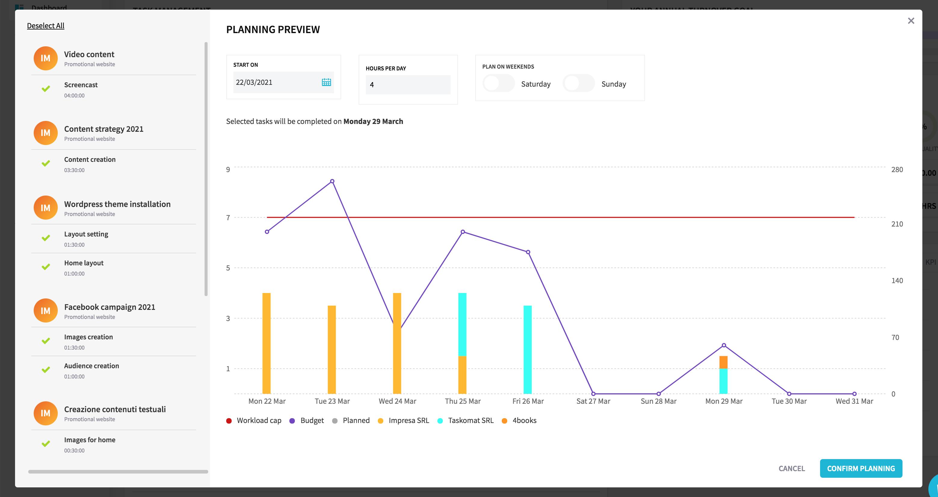 taskomat planning software